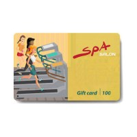 64141125-young-woman-running-on-a-treadmill-sale-discount-gift-card-branding-design-to-the-gym-and-sports-clu